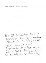 'Brieven aan Esther' - Vroege brieven van Grunberg in facsimile- en handelseditie