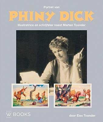 Portret van Phiny Dick, illustratrice en schrijfster naast Marten Toonder